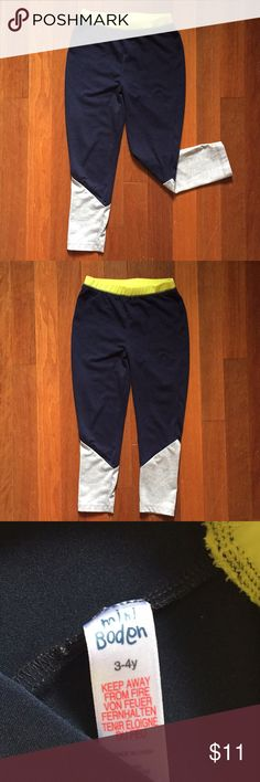 Mini Boden Girls Athletic Pants size 3y-4y Worn a few times for gymnastics practice! Very cute and also comfortable! My Daughter has outgrown them now! Excellent Condition! Mini Boden Bottoms Sweatpants & Joggers