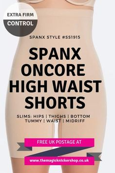 aed4af5036b4b Spanx OnCore High Waisted Mid Thigh Shaper Shorts - SS1915