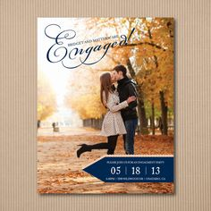 DIY Engagement Party Invitation   Modern by WeddingPaperGenie. , via Etsy.