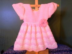 Anna's Free Baby Crochet Dress Patterns and Other Crafts:   This is the dress I show you how to make in my n...