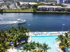 The Intracoastal view at the Crowne Plaza Hollywood Beach.