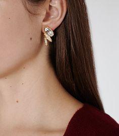 Lissandra Crystal Swarovski Crystal Earrings - REISS