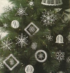 Crocheted Snowflake Pattern Ornaments Tree Topper by WildPlumTree, $4.00