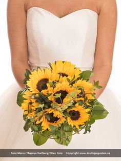 Brudbukett med solrosor / Bouquet with sunflowers