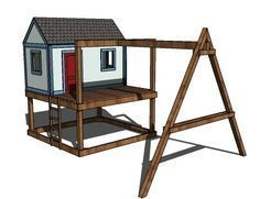 Ana White | Build a How to Build a Swing Set for the Playhouse! | Free and Easy DIY Project and Furniture Plans #buildplayhouses