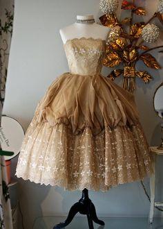 vintage 1950's Cotillion Party Dress.