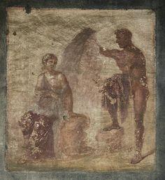 Argus guards Io. Fresco of the 4th style on the west wall of Macellum. Pompeii, Macellum, VII, 9, 7—8
