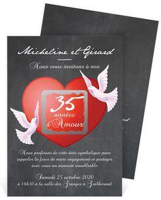 Invitation anniversaire de mariage couleur émeraude pour fªter vos