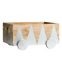 Storage box on wheels.