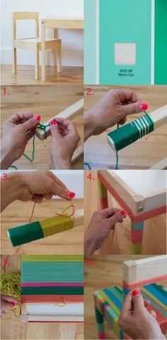 DIY Craft Yarn-wrapped furniture