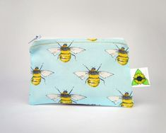Bank Card, Gold Top, Etsy Uk, Satin Fabric, Bees, Great Gifts, Coin Purse, Handmade Gifts, Stitch