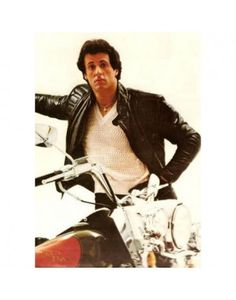 Sylvester Stallone Young | Home Rocky III: Sylvester Stallone Leather Jacket
