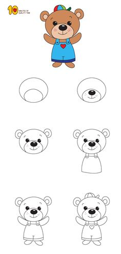 How to Draw a Teddy Bear Step by Step for Kids