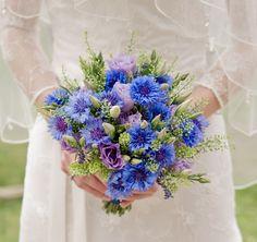 Eine Idee für die Hochzeit mit der blauen Kornblume