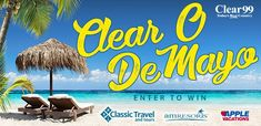 Enter the Clear 99 code word contest for your chance to win a 3-day trip to Dreams Sands Resort in Cancun with 2 round-trip airline tickets!