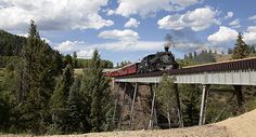 Not my favorite way to travel, but the Cumbres & Toltec Scenic Railroad is a very pretty way to go.