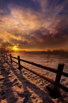 Fence Walking by Phil Koch - Fence Walking Photograph - Fence Walking Fine Art Prints and Posters for Sale Nature Pictures, Cool Pictures, Beautiful Pictures, Amazing Sunsets, Amazing Nature, Sunset Photography, Amazing Photography, Beautiful Places, Beautiful World