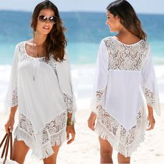 361f44ef777f Summer Beach Dress Cover Up Outings Tunics Womens Bather Bath Mat Sundress  Skirt Female Drying Polyester Lace Skirt Bikinis