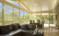Insulated roofing designed and built specifically to suit your lifestyle, home and requirements. Spanline Home Additions even provides a free quote! Carport Patio, Living Spaces, Living Room, Home Additions, Outdoor Rooms, Sunroom, Room Inspiration, Custom Design, Wall