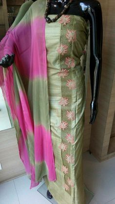Whatsapp on 9496803123 for customisation Embroidery Suits Punjabi, Kurti Embroidery Design, Embroidery Fashion, Embroidery Dress, Cutwork Embroidery, Machine Embroidery, Salwar Designs, Kurti Neck Designs, Kurti Designs Party Wear