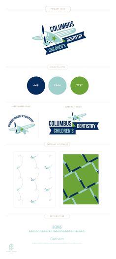Branding Design for Columbus Children's Dentistry | www.EmilyMcCarthy.com | Logo, Pediatric Dentistry Branding Design