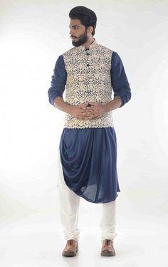 9 Latest and Stylish Party Wear Kurta Pajama for Men of rithun Mens Indian Wear, Mens Ethnic Wear, Indian Groom Wear, Indian Men Fashion, Fashion Men, Style Fashion, Punjabi Kurta Pajama Men, Kurta Men, Gents Kurta Design