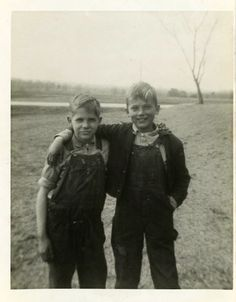 Snapshot Photo Like Brothers Farm Boy Vintage Photo by DandRPhotos