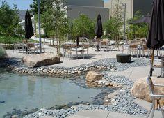 SQLA Inc. // West Hills Cafe Commercial Landscape Design, West Hills, Water Features, Patio, Outdoor Decor, Home Decor, Water Sources, Decoration Home, Room Decor