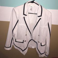 White and black blazer White and black blazer never worn. a'gaci Jackets & Coats Blazers