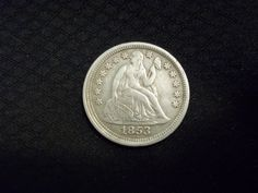 1853 Seated Liberty Dime (no arrows) found on private property in Carroll County, MD dating back to 1857 (my first silver coin)