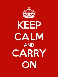 KEEP CALM AND CARRY ON with the Keep Calm-o-maticMaak zelf KEEP CALM kaarten
