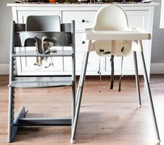 Is the Stokke high chair actually worth it? Is it really that much better than the Ikea high chair? Tips from a feeding specialist to help you choose what's best! Stokke High Chair, Ikea High Chair, Ikea Chair, Best Baby High Chair, Best High Chairs, Antilop High Chair, Chair Tips, Wooden High Chairs, Ikea Baby