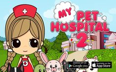 """App Store: https://itunes.apple.com/us/app/my-pet-hospital-2/id838214486?ls=1&mt=8  Google Play: https://play.google.com/store/apps/details?id=com.codnes.mphn2  """"My Pet Hospitall"""" is a great game for the whole family and all lovers of pets."""