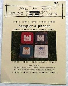 Mary Garry's Sewing Cabin - (Quaker) Sewing Alphabet Retired Rare