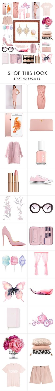 Rose Quartz Pantone 2016 by ellencmrobles on Polyvore featuring moda, River Island, Missguided, Chicnova Fashion, McQ by Alexander McQueen, Christian Louboutin, Converse, Prada, Lili Radu and Charlotte Tilbury