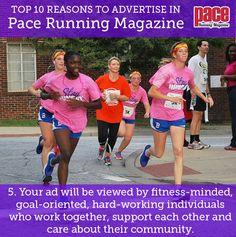 Top 10 Reasons to Advertise in Pace Running Magazine! Pace Running, Running Magazine, Working Together, Advertising, Fitness, Top, Crop Shirt, Shirts