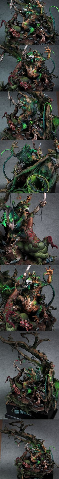 Skaven vs Orcs diorama 'For Whom the Bell Tolls.'