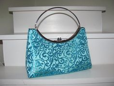 Wedding Turquoise brocade clutch purse / by jemdesign567 on Etsy, $45.00