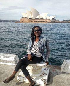 All the smiles and style down under with @she_travels in #Sydney. The Opera House is a must for your travel list! Travel Well #TravelFly! :::::::::::::::::::::::::::::: #PassportLife #BlackGirlsTravel #PassportReady #Travel #BrownGirlsTravel #Wanderlust #Fernweh #TravelTheWorld #TravelOn #BlackTravelers #TravelJunkie #TasteInTravel #LuxeTravel #WellTraveled #InspireToTravel #TravelLife #TravelGram #TravelBetter #IGTravel #WeTravel #Explore