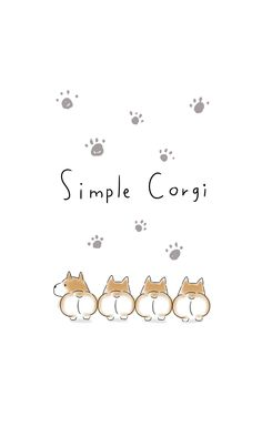 Corgi Wallpaper Iphone, Cat Wallpaper, Kawaii Wallpaper, Colorful Wallpaper, Kawaii Doodles, Cute Doodles, Cute Cartoon Wallpapers, Pretty Wallpapers, Corgi Drawing
