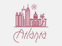 Graphic of Atlanta (including the Big Chicken)