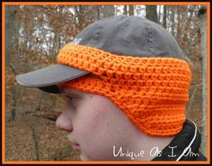 Perfect for hat hunter who wants to wear his favorite hunting hat but still has frozen ears!!    This thin cap ear-warmer is just the solution you