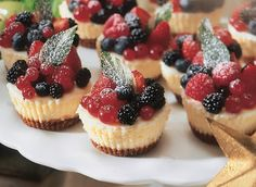 Holiday Cheesecake Cups - Bake this recipe for 1 hour, tastes much better and less pudding like texture.