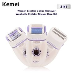 Kemei Epilator Lady Shaver Callus Remover Female Electrical Hair Removal Machine Trimmer Depilator Shaving Wool Device http://besthairremovals.com/best-hair-removal-guide/hair-removal-products-review/braun-silk-electric-hair-removal-epilator/