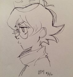 Thebestlaurenmontgomery: Another Pidge doodle… Because I only doodle Pidge. (at Soundworks Studios. Art Drawings Sketches, Cute Drawings, Pencil Art Drawings, Cartoon Drawings, Cartoon Art Styles, Cute Art Styles, Art Reference Poses, Drawing Reference, Cartoon Kunst