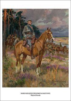 Józef Piłsudski na kasztance - Wojciech Kossak (5282211745) - Allegro.pl - Więcej niż aukcje.