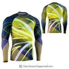 Fixgearmall - #FIXGEAR #Compression Base Layer Long Sleeve #Shirts, model no CFL-F71, Skin Tights and Advanced Performance Fabric. ( #AeroFIX ) #Rashguard #Workout #Fitness #Crossfit #Training #MMA #Jujitsu #Yoga