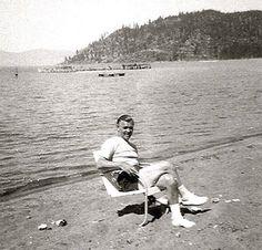 Clark Gable at Lake Tahoe in 1951