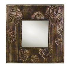 rasslands Road Indian Summer Smile Bronze Metal Wheat Motif Mirror
