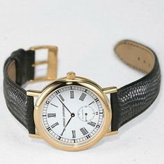 """Lehigh University Men's Swiss Watch - Classic with Leather Strap by M.LaHart & Co.. $239.00. Classic American style by M.LaHart. Three-year warranty.. Swiss-made quartz movement with 7 jewels.. Attractive M.LaHart & Co. gift box.. Officially licensed by Lehigh University. Lehigh University men's gold watch featuring """"Lehigh University"""" on the round dial. """"Lehigh"""" appears in the railroad track perimeter. Quartz movement crafted in Switzerland with 15 jewels. Three..."""